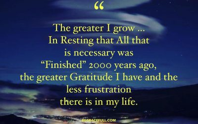 The Greater I Grow